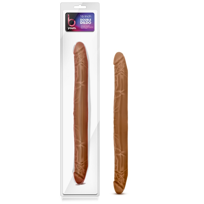 B Yours – 16in Double Dildo – Latin