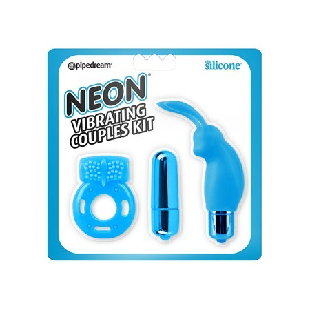 Neon Vibrating Couples Kit – Blue / Pink / Purple