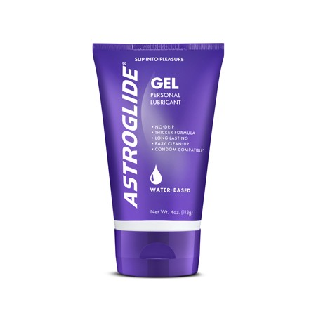 Astroglide Gel 4oz Tube Thicker Formula Water Based Lubricant
