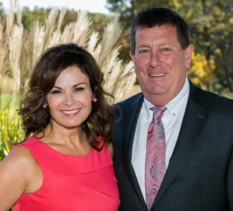 Brad Burgan, pictured with his wife,
