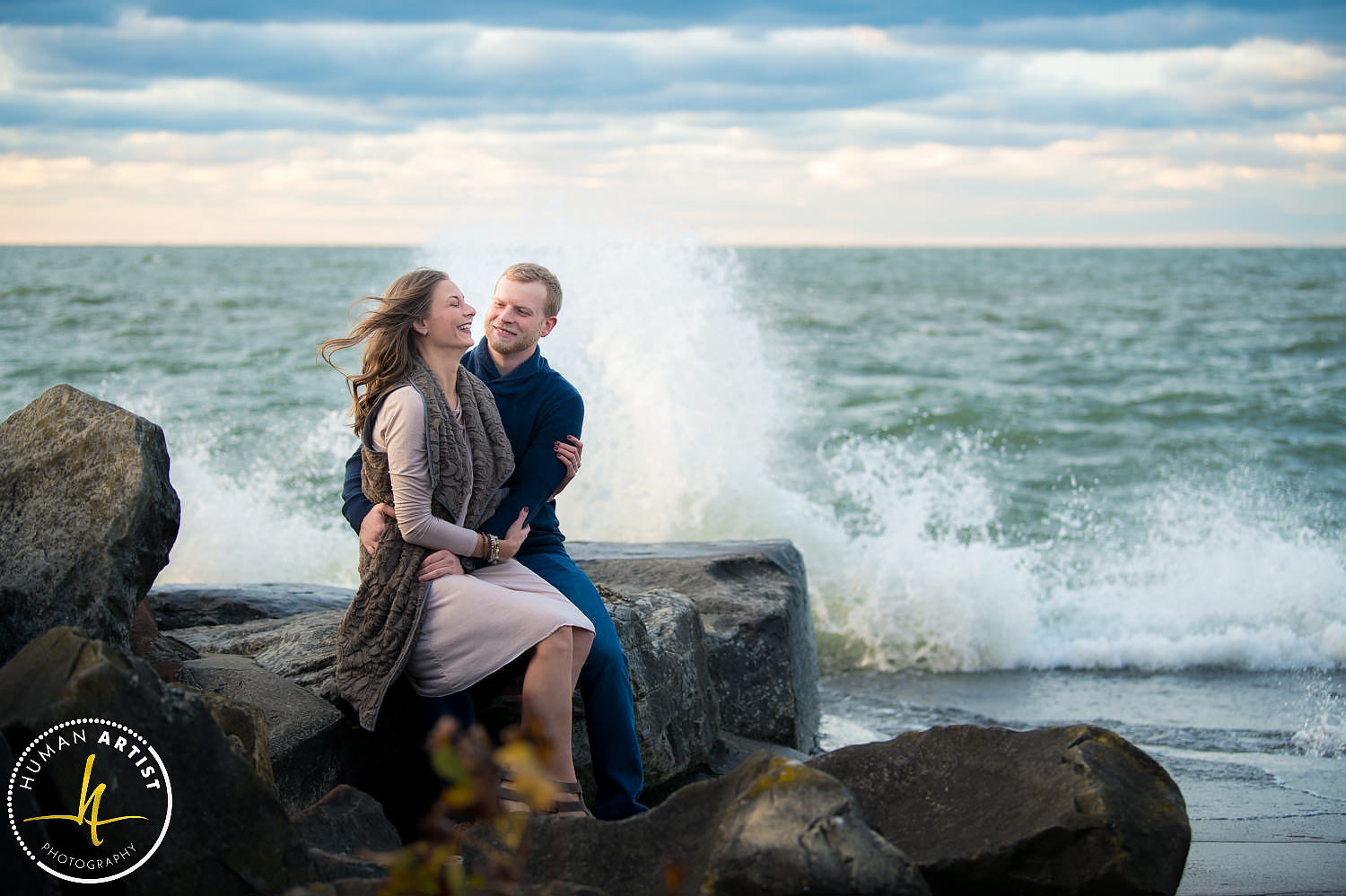 Edgewater Park Engagement Session with Carlie and Cameron