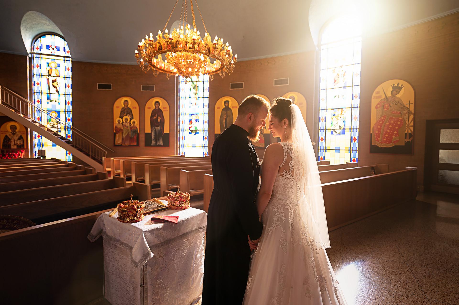 Saint Nicholas Byzantine Church Wedding | Sarah and Miron