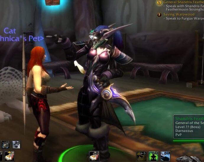 Shandris Feathermoon giving a player a quest