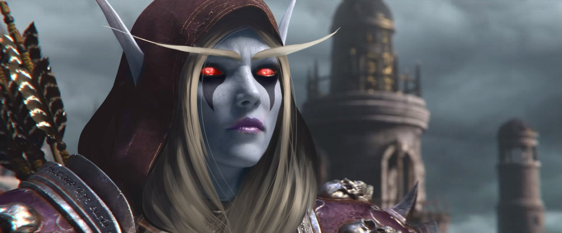 Lady Sylvanas looking out after the battle of Lordaeron