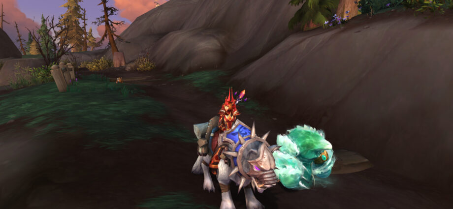 Frost mage on a frostwolf snarler wearing pvp transmog gear