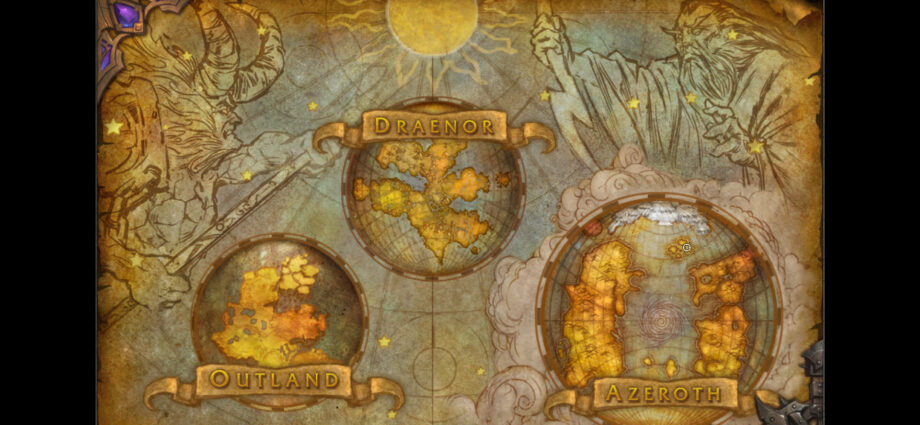 World of Warcraft world maps