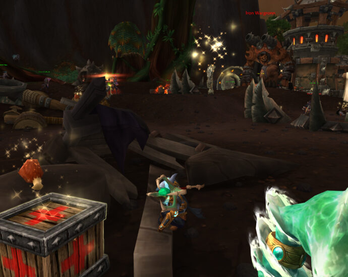 Mage looting First Aid Bandages for Draenor Pathfinder Achievement