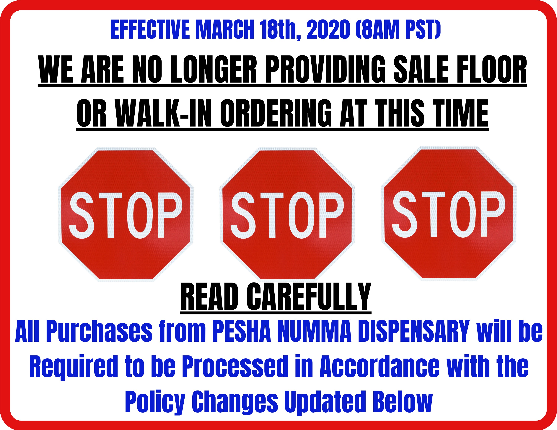 READ Policies sign PESHA