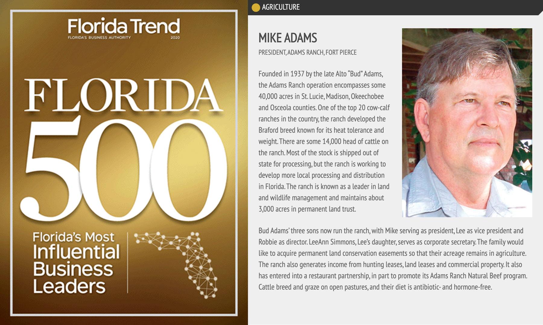 mike adams florida trend