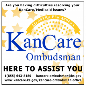 KanCare flyer with contact information
