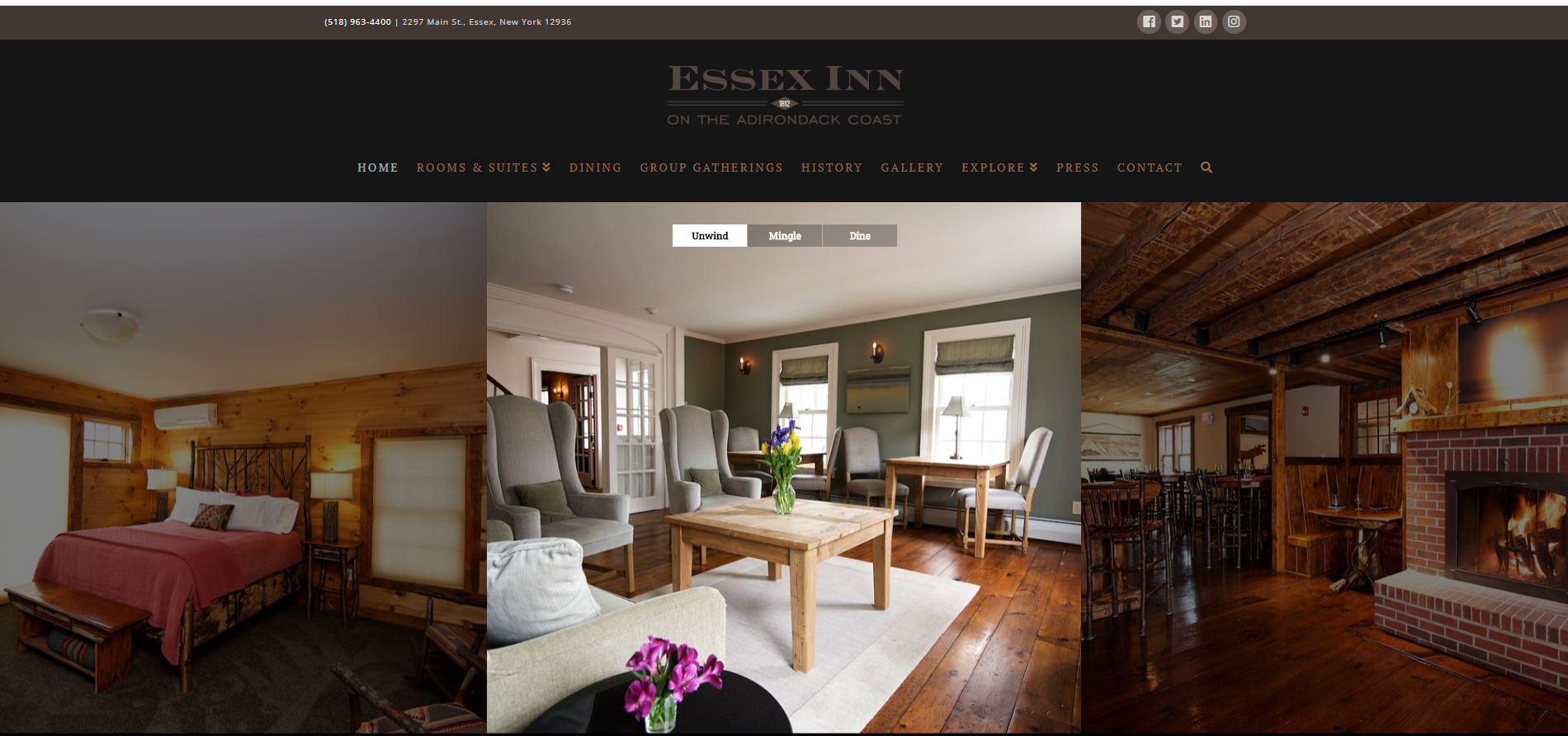 Client Project: The Essex Inn on The Adirondack Coast