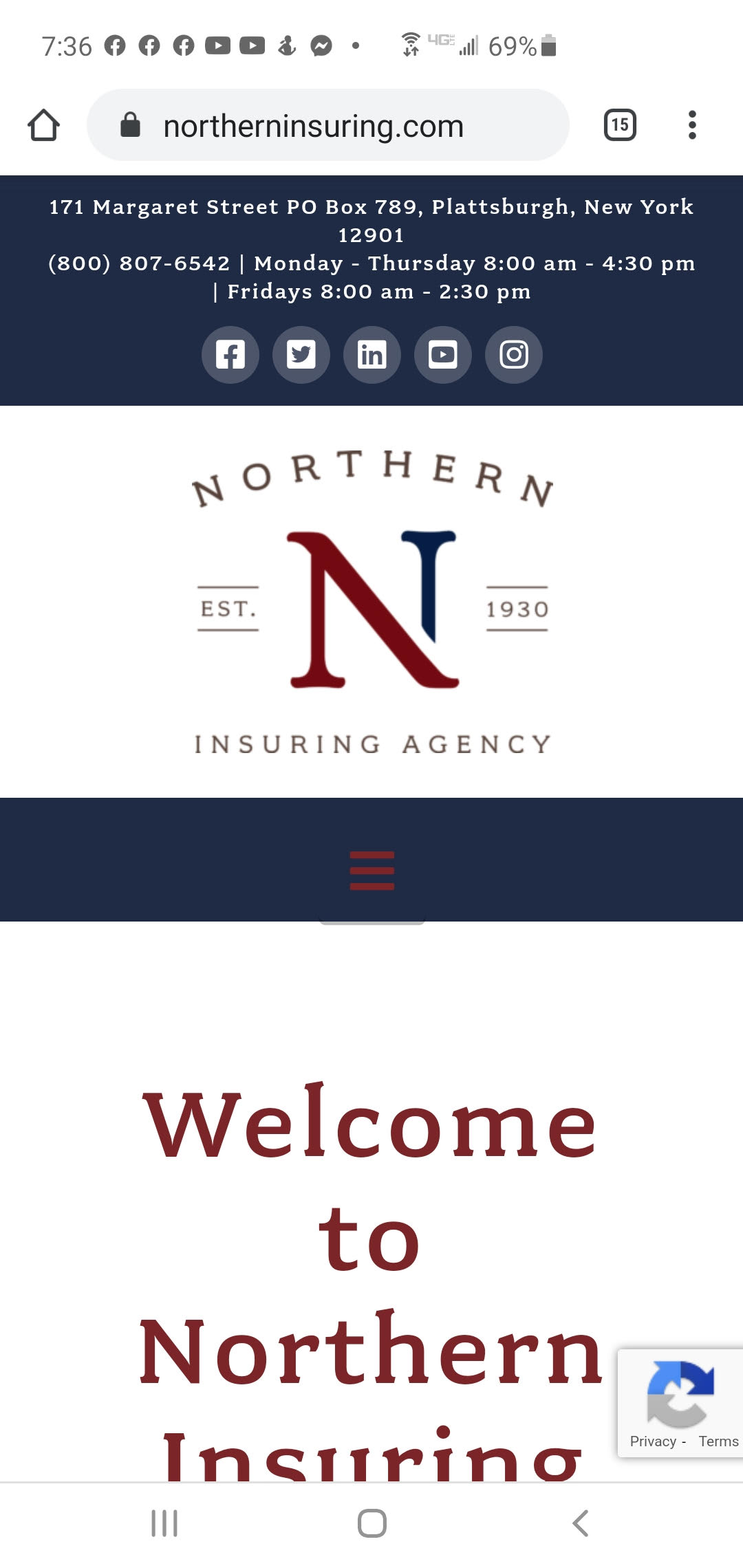 Northern Insuring website design project_reponsive