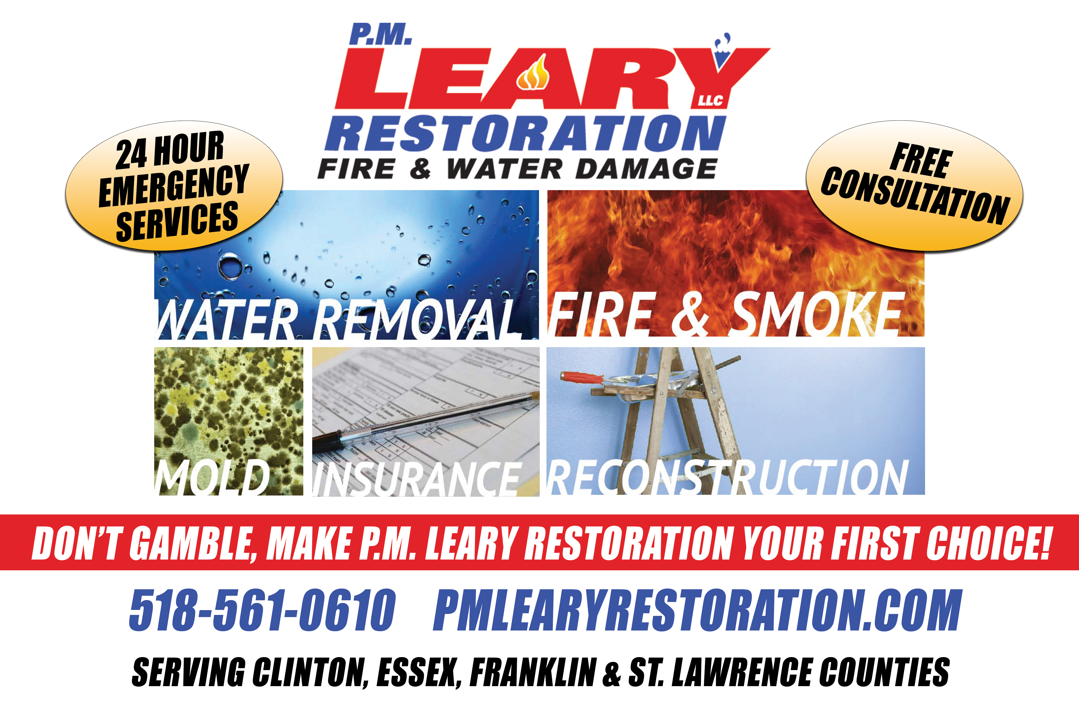 STRICKTLY BUSINESS - PR-PM LEARY RESTORATION - HALF PAGE HORIZONTAL