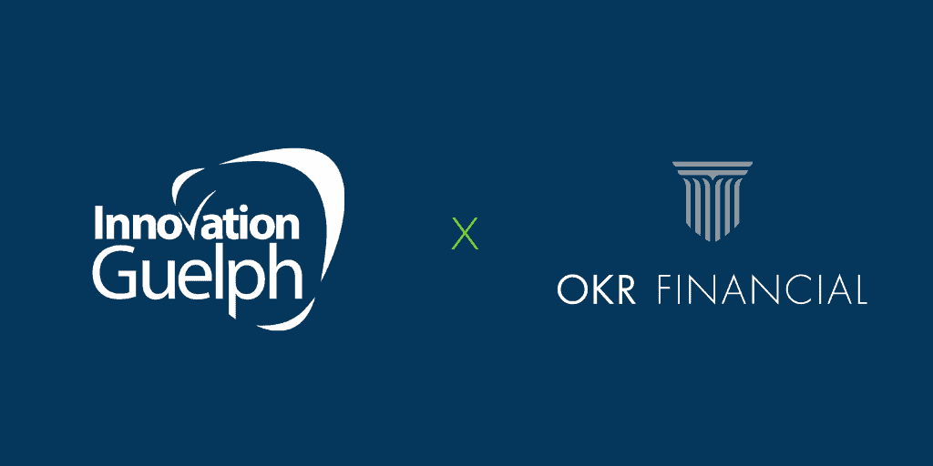 Innovation Guelph Logo beside OKR logo