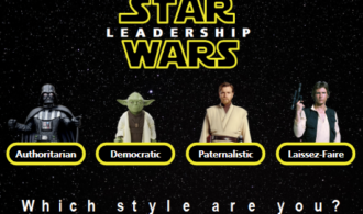 Star wars characters representing types of leadership