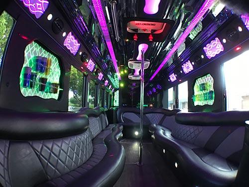 party bus rental fort lauderdale 35 passengers interior1