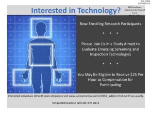 Interested in Technology? Now Enrolling Research Participants