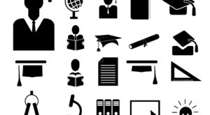 Download Vector Free Silhouette Education and School Icon Set, EPS, PNG, SVG