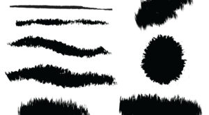 Free Adobe Illustrator Charcoal Pencil Brushes Strokes Set