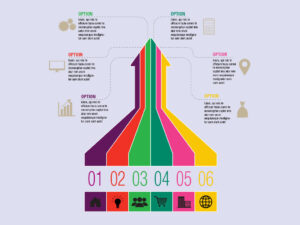Vector Six Arrows Infographic Template Free Download EPS, JPG