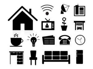Free Vector Home Appliance and Furniture Icons Set, EPS, PNG, SVG