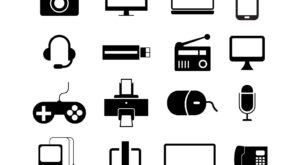 Electronic Gadgets Free Vector Icons Set | EPS | SVG | PNG