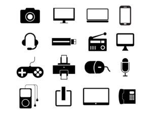 Electronic Gadgets Free Vector Icons Set   EPS   SVG   PNG