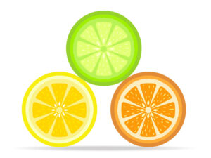 Free Citrus Slices of lemon, orange, lime vector set