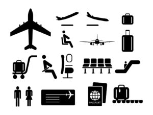 Universal Airport and Air Travel Icons Set-EPS-SVG-PNG