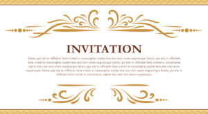 Vector Elegant Floral Invitation Card Design Template-EPS