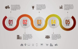 Free Download Circle Timeline Infographic Design Template