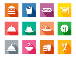 Free Download Colorful Long Side Shadow Stylized Food Icons Set   EPS   PNG   SVG   JPG