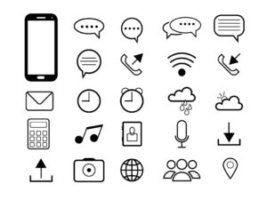 Free Mobile Phone Interface Icons Set | EPS | SVG | PNG | JPG