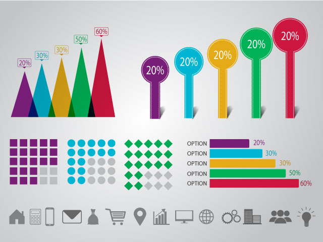 Free Vector Business Statistical Infographic Template Design