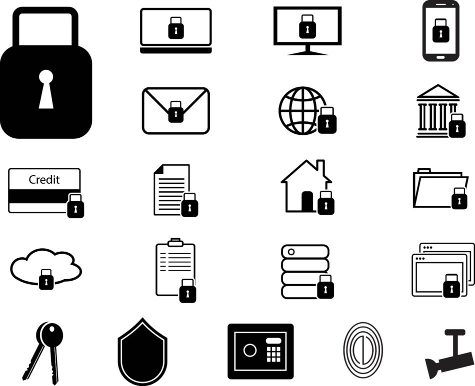 Free Downloadable Simple Security & Protection Icons Set   EPS   SVG   PNG   JPG