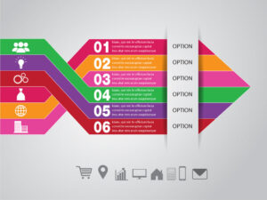Arrow Business Infographic Template Design Free Vector | EPS