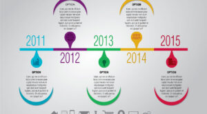 Free Modern Half Circle Timeline Infographic Design Template | EPS