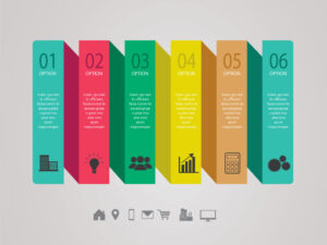 Vector Six Process Steps Business Infographic Template Design | EPS