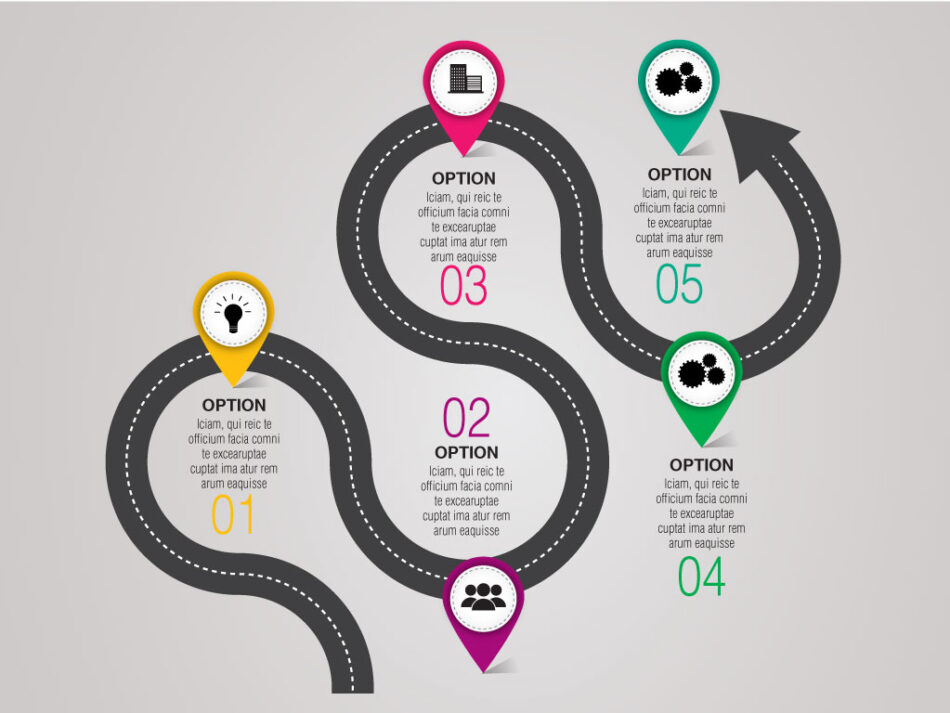Vector Business Roadmap Timeline Infographic Template | EPS | JPG | Free Download