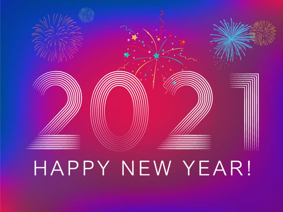 2021 New Year Greeting Card with Fireworks | EPS | PSD | JPG | Free Download