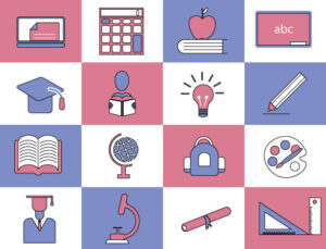 Free Vector Flat Education Icons Set | Outlined School Icons Set | EPS | JPG | PNG | SVG