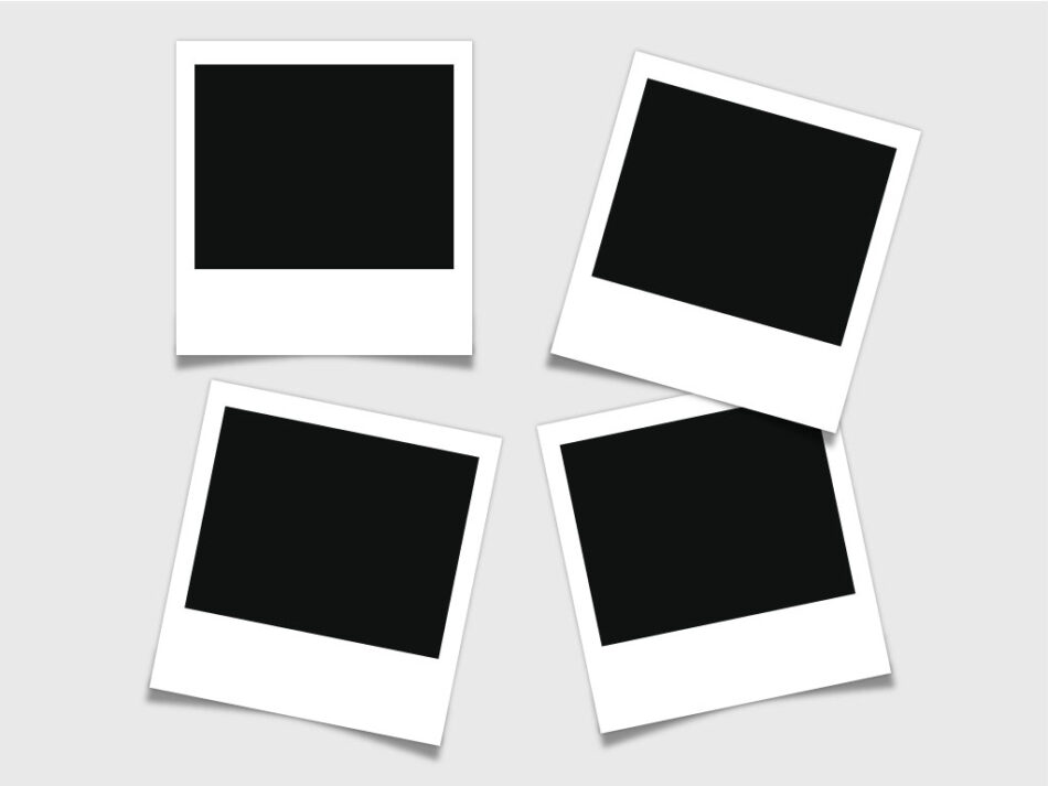 Free Beautiful Vector Polaroid Frames | Free PSD Photo Frames Collage Template | EPS | PSD