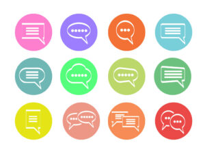 Free Vector Speech Bubble Chat Icons Set | Free Download | EPS | SVG | PNG | JPG
