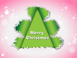 How to Create Beautiful Torn Paper Merry Christmas Vector in Adobe Illustrator