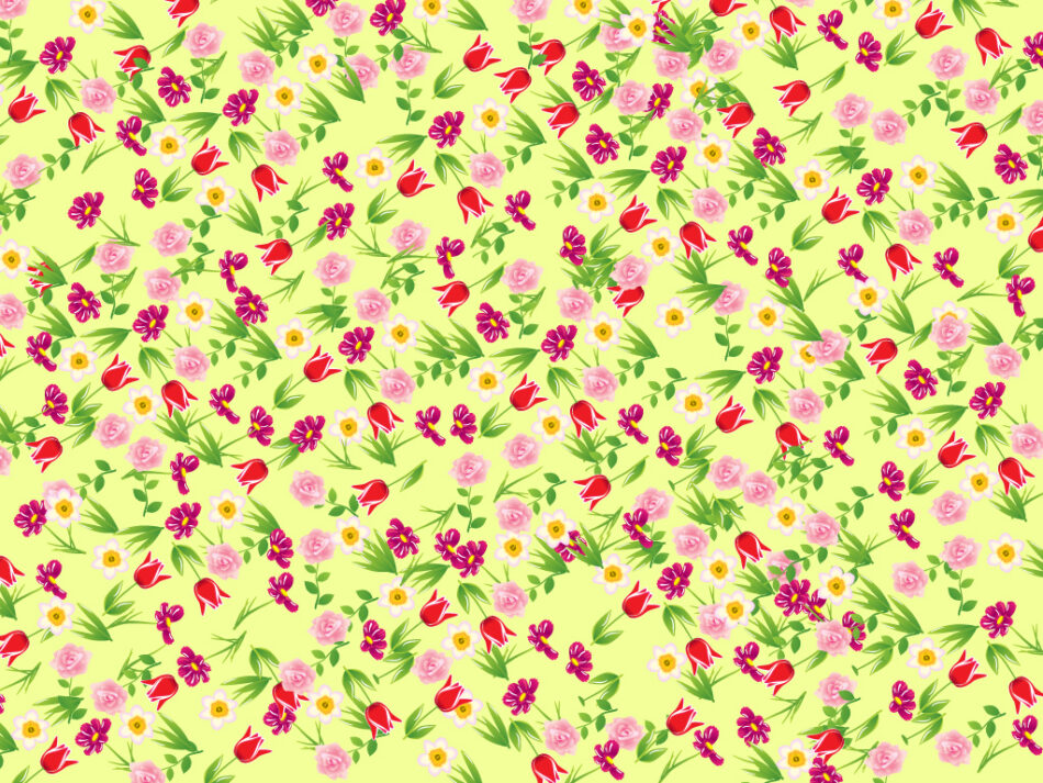 Seamless Flowers Pattern | Vector Pattern with Colorful Flowers | Free Download | EPS | JPG
