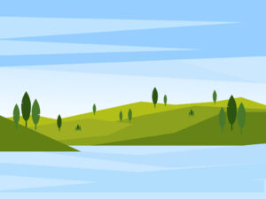 Vector Green Landscape Background | Free Download | EPS | JPG