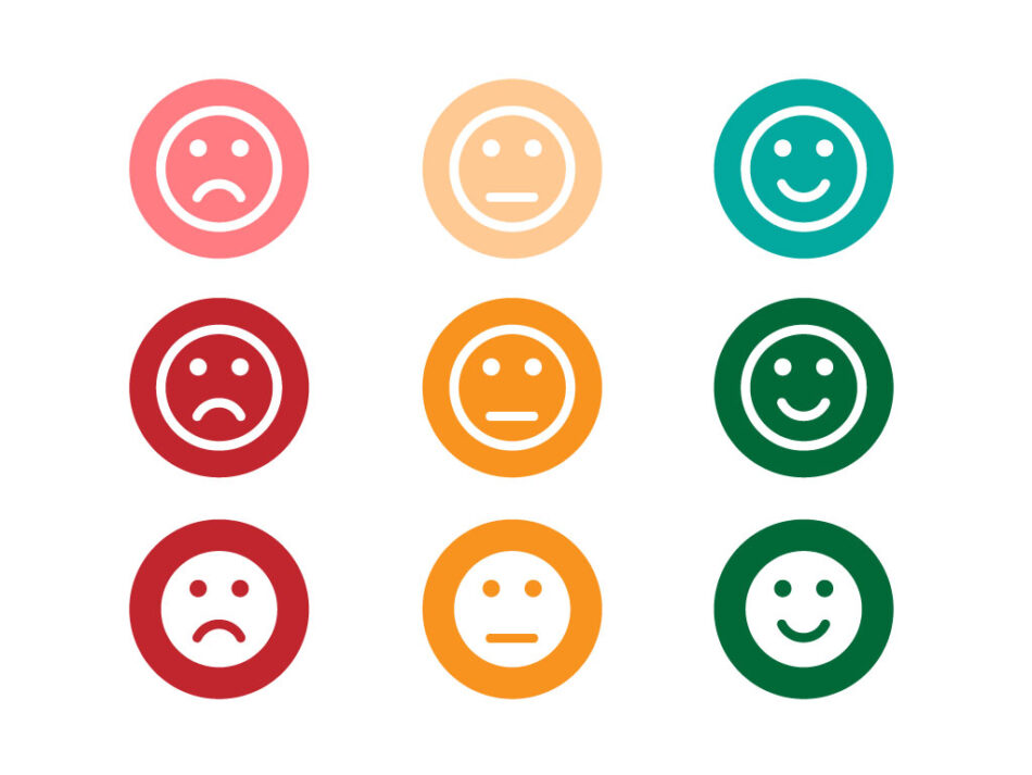 Modern Emoticon Smile Icons | Vector Emoji Icons | AI | EPS | SVG | JPG | PNG
