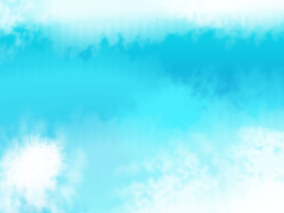 Abstract Blue Colored Clouds Background Watercolor  JPG   PSD
