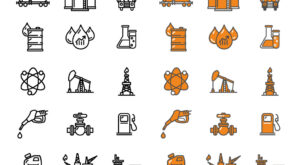 Fuel Icons Set | Oil and Gas Line Icon Set| EPS | JPG | PNG | SVG