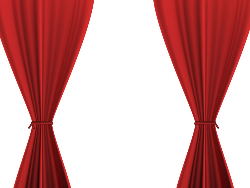 Vector Theater Drapes and Stage Curtains   EPS   JPG